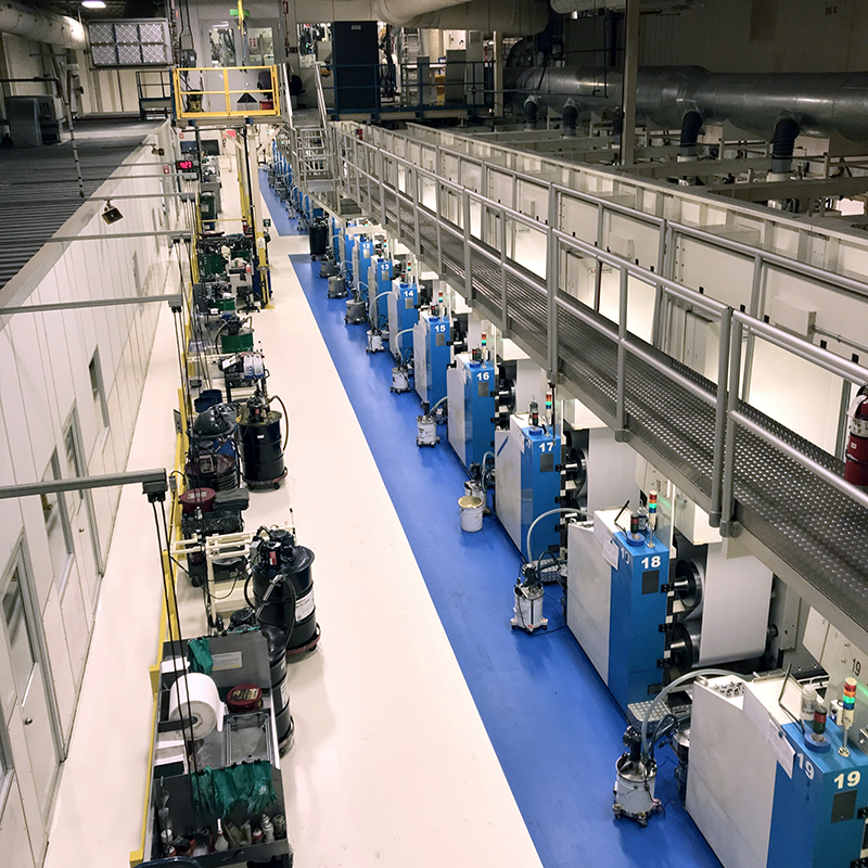 Presse de l'usine de Montréal de Scientific Games